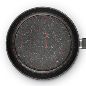 Frying Pan Round Classic Safe Premium Saute Nonstick Skitllet Pan Without Lid - Targen