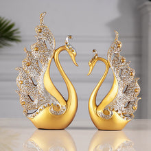 Load image into Gallery viewer, 2 Pcs Swan Statue Sculpture Modern Art Ornaments Wedding Gifts - Targen