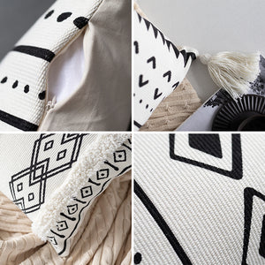 Cushion Cover Nordic Geometric Decorative Waist Pillow Case - Targen