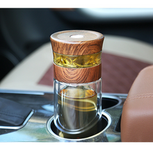 Load image into Gallery viewer, Portable Double Wall Borosilica Glass With Lid Filter Automobile Car Cup - Targen