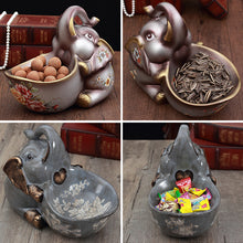 Load image into Gallery viewer, Creative Baby Elephant Ornament White Pottery Key Storage Box - Targen
