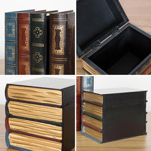 Load image into Gallery viewer, Vintage Decorative Fake Book Box Wooden Storage Box Home Ornament - Targen