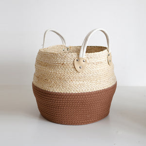 Natural Woven Storage Basket Multi-purpose Desktop Storage Box - Targen