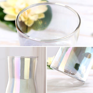 Simple Small Glass Gradient Wide Mouth Flower Vase - Targen
