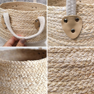 Multi-purpose Desktop Natural Woven Storage Basket - Targen