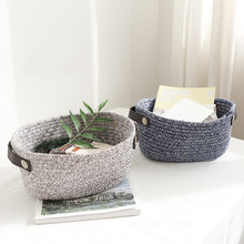 Load image into Gallery viewer, Cotton Woven Fabric Storage Basket