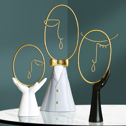 Abstract Desk Decorations Statue Family Sculptures