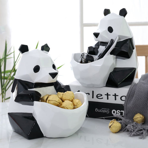 Creative Panda Figurine Storage Candy Box Statue Decoration - Targen
