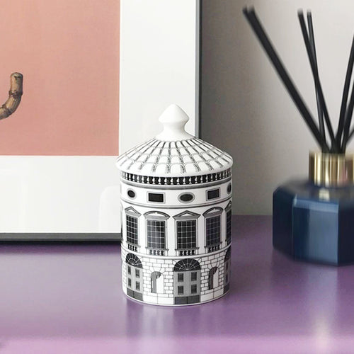 Castle Storage Pot Art Decor Ceramic Storage Jar - Targen