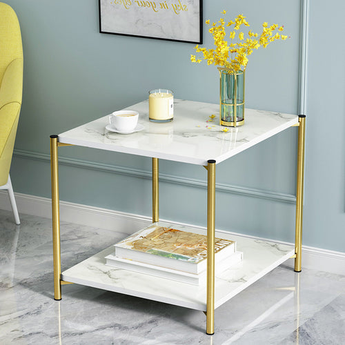 Tea Table Simple Modern Creative Double Layer  Storage Square Coffee Table