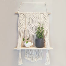 Load image into Gallery viewer, Plant Pot Holder Wooden Storage Racks Hanging Shelves For Wall - Targen