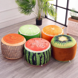 Cartoon Plush 3D fruit inflatable Chair Lovely Pneumatic Portable Stools - Targen