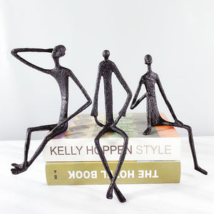 Bronze Human Sculpture Modern and Elegant Design Ornament