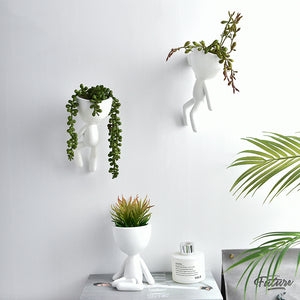 Nordic Portrait Art White Flower Pot Decoration Ornaments - Targen