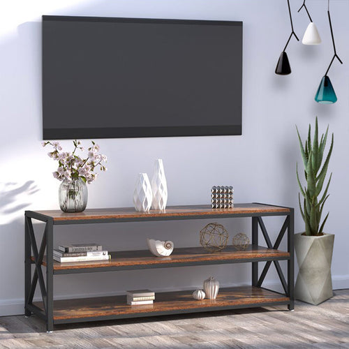 Lengthened TV Cabinet Coffee Table with Metal Frame