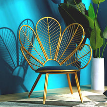 Load image into Gallery viewer, Peacock Shape Golden Iron Sofa Leisure Chair Bedroom Combination Furniture Living Room Set China Free Shipping  Modern Furniture