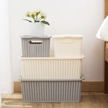 Load image into Gallery viewer, Clothes Underwear Basket Large Toy Storage Box With Plastic Cover - Targen
