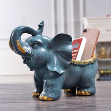 Load image into Gallery viewer, Elephant Figurine Cute Desk Animal Sculpture Storage Box - Targen