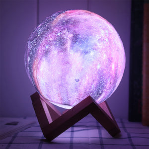 3D Printing Magic RGB LED Moon Lamp Space LED Night Light - Targen