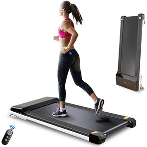 Portable Treadmill with Foldable Wheels Jogging Running Machine