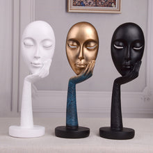 Load image into Gallery viewer, Resin Crafts Abstract Art Face Mask Character Sculpture - Targen