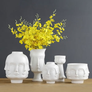Flower Man Face Vase Modern Ceramic Flowers Pot - Targen