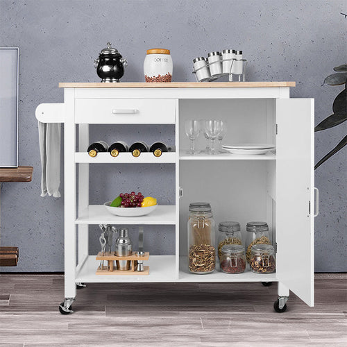 Targen Kitchen Cart Rolling Trolley Table on Wheels