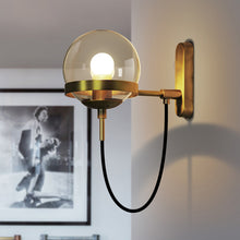 Load image into Gallery viewer, Modern Golden Ball Wall Light Bedside Wall Sconce Lamp