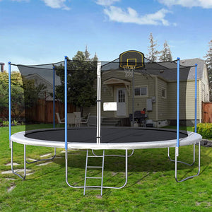 16FT Yard Trampoline Outdoor Basketball Play Trampoline For Fun