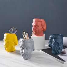 Load image into Gallery viewer, Creative Einstein Vase Funny Pen Holder Storage Jar Flower Decoration - Targen