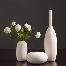 Load image into Gallery viewer, Northern European-Style White Ceramic Vase Flower Container - Targen
