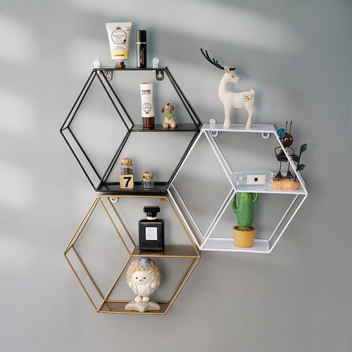 Storage Holder Nordic Style Metal Decorative Shelf - Targen