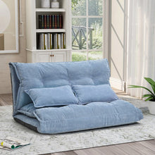 Load image into Gallery viewer, Sofa Bed Adjustable Folding Futon Sofa Leisure Sofa Bed with Two Pillows - Targen