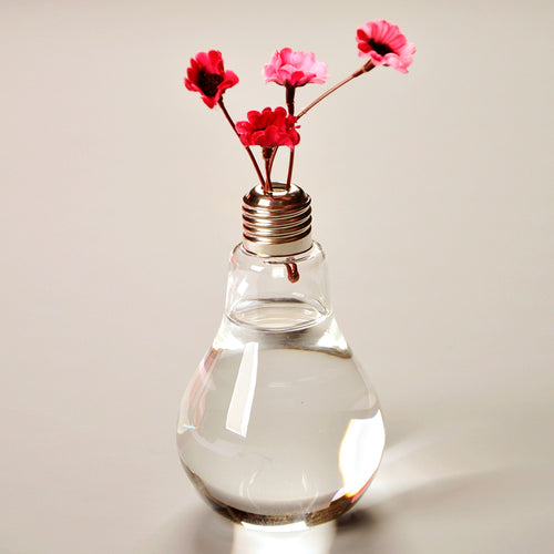 Targen Creative Clear Bulb Glass Vase