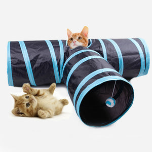 Cat Sound Paper Tee Tunnel Cat toy Drill Bucket Foldable Cat Channel - Targen