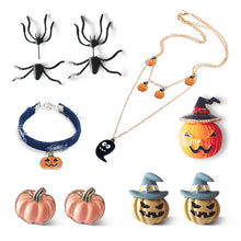 Load image into Gallery viewer, Halloween Jewelry Set Include Earrings, Necklace,Brooch And Wristlet