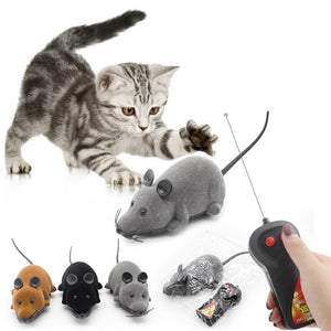 Pets Toy Funny Wireless Electronic Remote Control Mouse Rat Pet Toy for Cats Dogs  Kids Novelty Gift - Targen