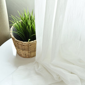 White Sheer Curtains Fabric Nordic Style Black Leaves Curtain - Targen