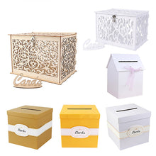 Load image into Gallery viewer, Warm Wedding Card Box Creative Money Box Wedding Decoration  Paper Gift Boxes - Targen