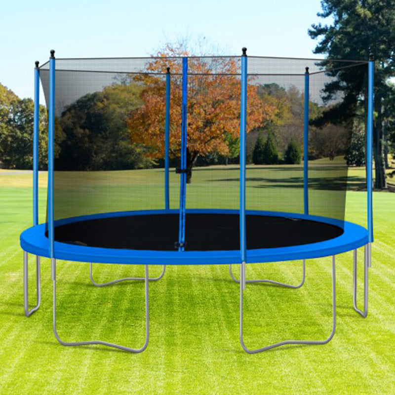 13FT Outdoor Blue Trampoline For Fun