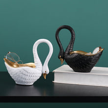 Load image into Gallery viewer, Creative Swan Storage European style Resin Crafts Decoration - Targen