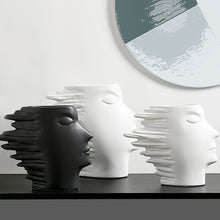 Load image into Gallery viewer, Nordic Modern Minimalist Abstract Ornaments Human Face Vase - Targen
