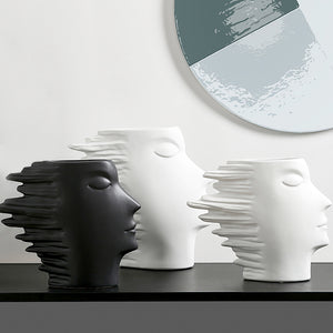 Nordic Modern Minimalist Abstract Ornaments Human Face Vase - Targen