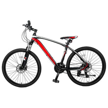 "Load image into Gallery viewer, 26"" Aluminum Mountain Bike 24 Speed Mountain Bicycle with Suspension Fork"