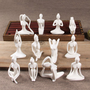 Creative Modern Simple Character Abstract Crafts Yoga Decoration - Targen