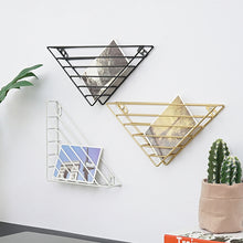 Load image into Gallery viewer, Ornaments Display Decals Strong-bearing Wall-mounted Triangle Wall Hanging Bookshelf - Targen