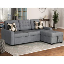 Load image into Gallery viewer, Upholstery Sleeper Sectional Sofa Beige Brown Grey - Targen