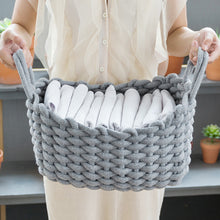 Load image into Gallery viewer, Simple Hand-knitted Storage Box Cotton Rope Storage Basket - Targen