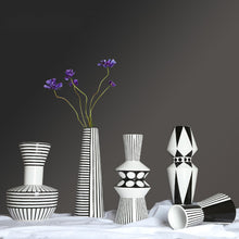 Load image into Gallery viewer, Geometric Modern Scandinavian Table Countertop Ceramic Vase - Targen