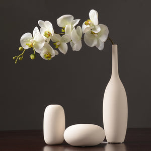 Northern European-Style White Ceramic Vase Set  Flower Container - Targen